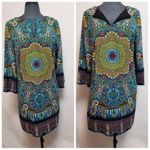 Nicole By Nicole Miller Dress Colorful Size Large